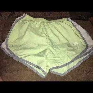 Women's Auburn University Nike Dri-Fit shorts.